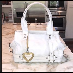 Juicy Couture white elegant hand bag
